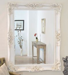 This Antique Design Ornate Wall Mirror will make a beautiful addition to any room in the house, from the dining room to the bedroom. A mirror such as this one can have a retail price of up to £500.00. This mirror has a glass size of 4ft x 3ft (122cm x 91cm) and has an overall size of 5ft x 4ft (152cm x 122cm).