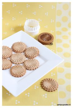 Sugar cookies made with a sunwheel springerle mould.