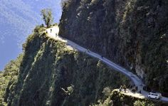 The scariest: Road of Death ; for pure fingernail-wasting terror, there's Yungas Road in Bolivia. Called the Road of Death, Yungas has long stretches of thousand-foot drops and no guardrails. It's winding and tight, and it rains a lot. People die there. It's no place for backseat drivers.