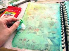 Art Journal: Inspired by Waves and Sunshine ... you have to click through and watch the process, see the finished page - love it!