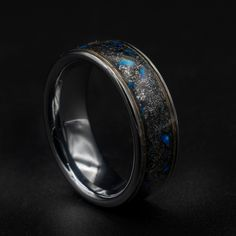 Opal Wedding Rings, Opal Rings, Wedding Ring Bands, Gold Band Ring, Band Rings, Tungsten Mens Rings, Tungsten Carbide, Meteorite Ring, Gold Wire
