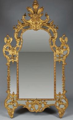 Louis XV Giltwood Pier-Glass Mirror from the Regency Era (approx 1795 to 1837)