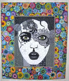 zentangle portraits | Artsy Chick Quilts: Zendoodle