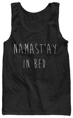Namastay in bed Tank