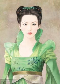 Chinese Lady in Green