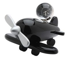 This airplane clock will fly you back to the time of your childhood with it's whimsical wooden-toy look. Paris Suburbs, Aviation Fuel, Propeller Plane, Waterloo Station, Key Keychain, Pilot License, Pilot Gifts, Desk Clock