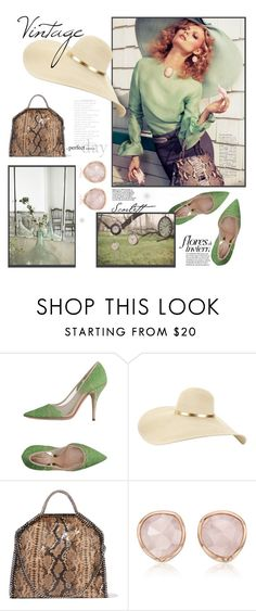 """""""Hat"""" by susli4ek ❤ liked on Polyvore featuring Sebastian Professional, Magdalena, Vintage House by Park B. Smith, STELLA McCARTNEY and Monica Vinader"""