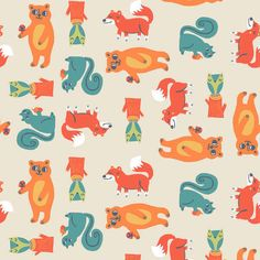Allison Cole FLANNEL fabric Happy Camper for Camelot Fabrics Critters in Cream 1 yard by fivemonkeyfabrics on Etsy https://www.etsy.com/listing/175131361/allison-cole-flannel-fabric-happy-camper