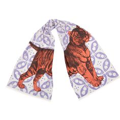 Tiger Scarf. Hand silk-screened. Design by thomaspaul.