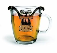 Frog Tea Infuser with Drip Tray - Stainless Steel: Amazon.de: Küche & Haushalt