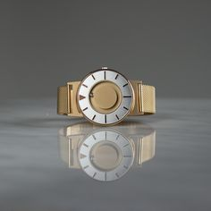 The Bradley Mesh gold features a case size and is fastened by an adjustable stainless steel mesh bracelet. PVD coating protects the watch from everyday wear and tear. Mesh Bracelet, Bracelet Watch, Dezeen Watch Store, Gold Armband, Unique Clocks, Stainless Steel Mesh, Touch Of Gold, Watches For Men, Jewels