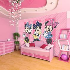 Minnie Mouse Wall Mural Kids Decor by Graham and Brown: