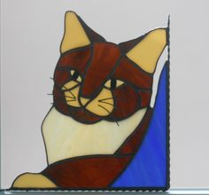 Cat / stained glass window corner.  via Etsy.