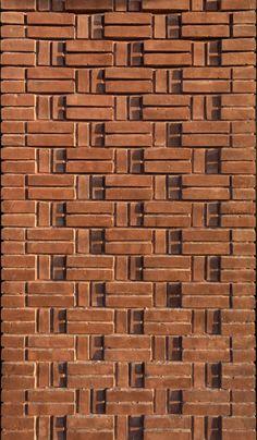 Image 9 of 40 from gallery of Raj Villa / CSD Office. Photograph by Mohammad Hassan Ettefagh Villa Design, Brick Cladding, Brick Facade, Brick Design, Facade Design, Brick Architecture, Architecture Details, Brick Bonds, Brick Projects