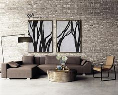 Set of 2 Tree Painting, Large Canvas Wall Art, Set of 2 Tree Art, Abstract Landscape Painting, Landscape Art - Ethan Hill Art Abstract Animal Art, Abstract Landscape Painting, Abstract Trees, Abstract Flowers, Minimalist Painting, Minimalist Art, Large Canvas Wall Art, Black And White Painting, Contemporary Abstract Art