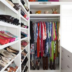 Need ideas for a closet/dressing room? Check out this one! (via Fresh American)