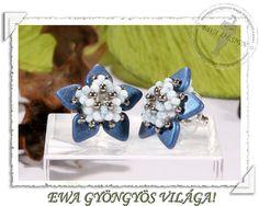 Hessa beaded earrings PDF pattern by EwaHotBeads on Etsy