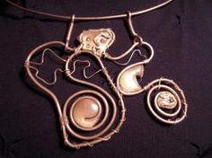Collana con pendente realizzata in fimo.  Handmade Jewerly - DIY  Paste / argille polimeriche / sintetiche  Polymer clay & wire