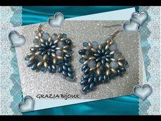▶ DIY Tutorial: Orecchini perline superduo - DIY Tutorial: Earring beads superduo - YouTube