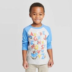 Seuss Toddler Boys' Cat in the Hat Long Sleeve T-Shirt - Light , Toddler Boy Fashion, Toddler Girl Style, Baby Girl Fashion, Toddler Boys, Trendy Baby Clothes, Boys Shirts, Mens Clothing Styles, Hat, Long Sleeve