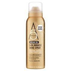 Argan + argan oil miracle shine spray rec by Tijan, only found on Waitrose £4.99.