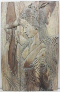 Phuying (Woman) #WallDecor 24 x 36 carved wood panel $279.00 USD   Phuying is a Thai word for woman and is used in a formal polite way to address a woman you don't know but would like to know.