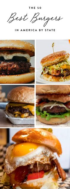 The+50+Best+Burgers+in+America,+by+State+#purewow+#meat+#state+#food