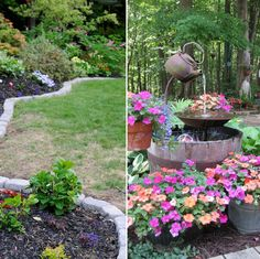 Steal these cheap and easy landscaping ideas for a beautiful backyard. Warning: Your lawn is about to become the envy of the neighborhood with these cheap and easy landscaping ideas that look professional. Easy Landscaping, Landscaping Tips, Plants, Beautiful Backyards, Landscaping Work, Small Plants, Rock Garden, Landscape, Beautiful Gardens