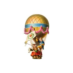 Vintage Graphic Hot Air Balloon ❤ liked on Polyvore featuring steampunk and victorian