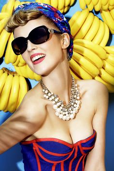 Get ready to ride your banana boat with gorgeous oversize sunnies!