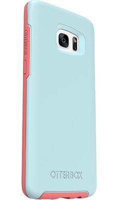 Ultra-Slim Galaxy S7 edge Case | Slim Security. Sleek Style. | OtterBox - Boardwalk (Light Blue/Neon Pink)