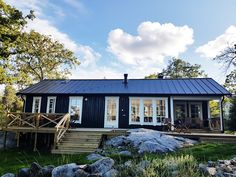 Cute House, Good House, Tiny House, Prefab Cottages, Vernacular Architecture, Scandinavian Home, Black House, Log Homes, Building A House