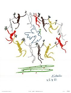Bid now on La Ronde de la Jeunesse by Pablo Picasso. View a wide Variety of artworks by Pablo Picasso, now available for sale on artnet Auctions. Pablo Picasso, Kunst Picasso, Art Picasso, Picasso Dove, Picasso Prints, Claude Monet, Picasso Sketches, Cubist Movement, Spanish Painters