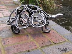 Unbelievable Sculptures Made From Horse shoe