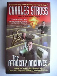 """The Atrocity Archives"" contains two stories by Charles Stross. The novel ""The Atrocity Archive"" has been published for the first time in the magazine ""Spectrum SF"" between November 2001 and November 2002. The novella ""The Concrete Jungle"" was published for the first time in 2004. In 2005 it received the Hugo Award as the Best Novella of the year. Cover: art by Mark Frederickson and design by Annette Fiore DeFex for an American edition."