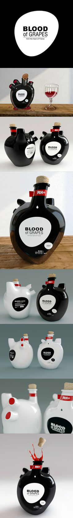 This is great. Unique packaging | blood of grapes by constantin bolimond