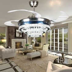 Item Type: Ceiling FansFeatures: 220 watts and 110 wattsBody Material: ABSBody Material: CrystalBody Material: GlassBody Material: IronBody Material: Stainless SteelSwitch Type: Remote ControlLight Source: LED BulbsWarranty: 3Wattage: 36wFinish: Brushed StainlessCertification: CCCCertification: CEIs Dimmable: YesStyle: ModernBase Type: WedgeVoltage: 110-240VIs Bulbs Included: YesPower Source: ACBlade Size: 45Model Number: 8970Weight: 18Brand Name: KEBAISHIIrradiated area : 10 ㎡ -30㎡Shade…