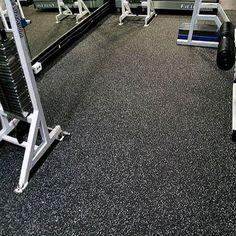 Black Rubber Sheet Flooring with white EPDM for Gyms. Gym Flooring Tiles, Rubber Flooring, Tile Floor, Rubber Tiles, Rubber Mat, Natural Flooring, Best Gym, Tile Design, Dubai