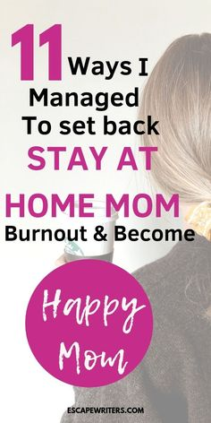 11 Things Every Stay At Home Mom Have To Do To Be Happy - Escape Writers Know best 11 tips for every mom to be a happy mom. Staying at home to raise kids can cause depression and learn these survival tips to be a happier and calm stay at home mom. Foster Parenting, Good Parenting, Parenting Humor, Parenting Hacks, Parenting Goals, Happy Mom, Happy Parents, Happy Life, Age Appropriate Chores