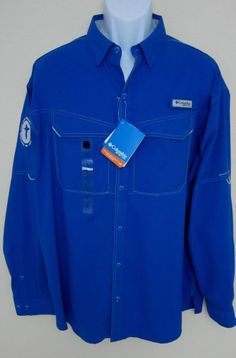 Columbia sportswear pfg bahama ii fishing shirt long for Embroidered columbia fishing shirts