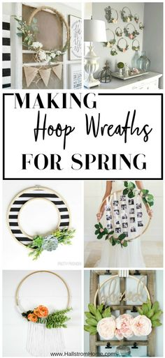 Hallstrom Home: Making Hoop Wreaths for Spring