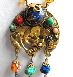Neiger necklace Nouveau sautoir early Czech by terrasouljewelry