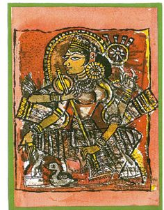 Goddess Saraswati, Sold.