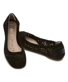 Look at this TOMS Black Cutout Classic Ballet Flat on #zulily today!