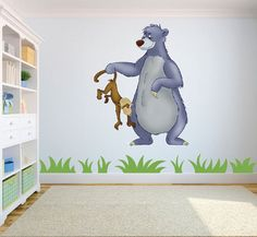 Disney Jungle Book Baloo & Monkey Art by CreativeWallStickers