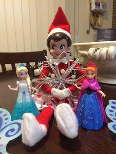 """""""Frozen"""" Elf on a Shelf"""
