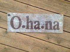 Ohana Barn Wood Sign Hand Painted Genuine Barn by WarAndPieces