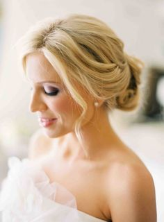 Soft and pretty Classic updo | wedding hair A twist on the classic bridal beauty look: http://www.stylemepretty.com/2015/01/20/10-hair-makeup-looks-for-the-bride/