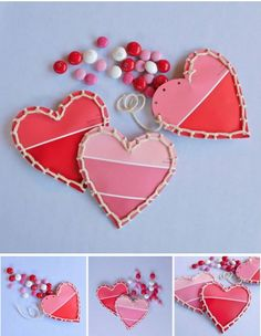 DIY Valentine's Gifts that kids can make: Cool paint chip Valentine's cards at Instructibles