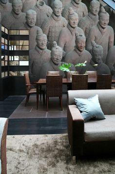 Papier peint  l'armée de Xian